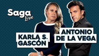 #SagaLive Karla Sofía Gascón y Antonio de la Vega con Adela Micha. thumbnail