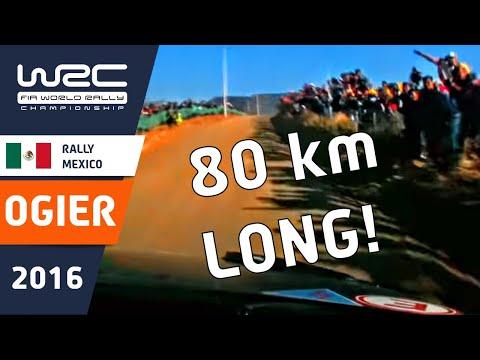 WRC Rally Guanajuato México 2016: FULL ONBOARD Ogier SS20 (80km!)