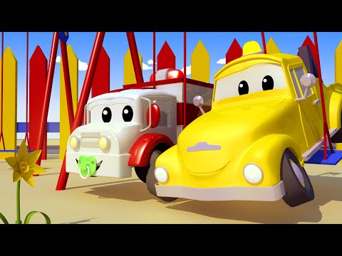 Baby Tom the TOW TRUCK Snaps His Tow ROPE!  - Amber the Ambulance Cartoon for Children