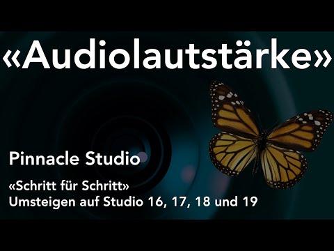 Audiolautstärke ändern in Pinnacle Studio  - Umsteigen auf Studio 16, 17, 18 und 19