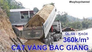 Cát vàng Bắc Giang - Đổ bê tông 360k/m³ về đến Km34-QL.4A