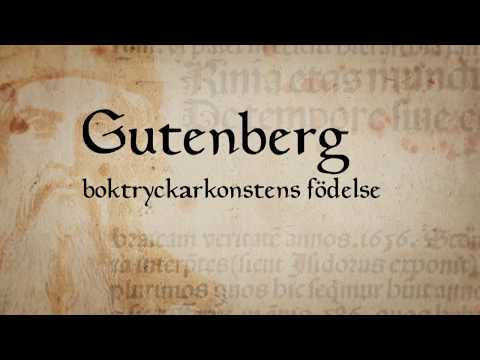 Gutenberg – boktryckarkonstens födelse