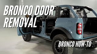 2021 Ford Bronco Door Removal | Bronco How-to Ep. 5 | Bronco Nation