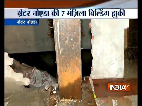 Seven-storey building bends in Greater Noida