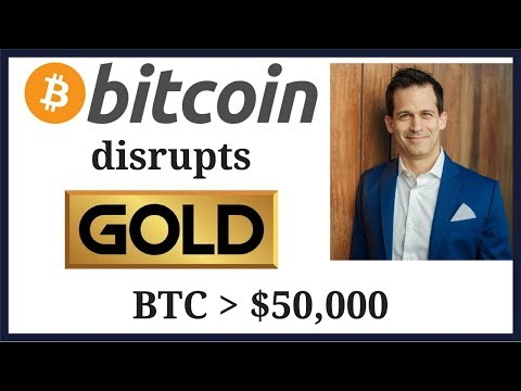 Bitcoin Disrupts Gold - Bitcoin (BTC) price to $50000 on store of value story
