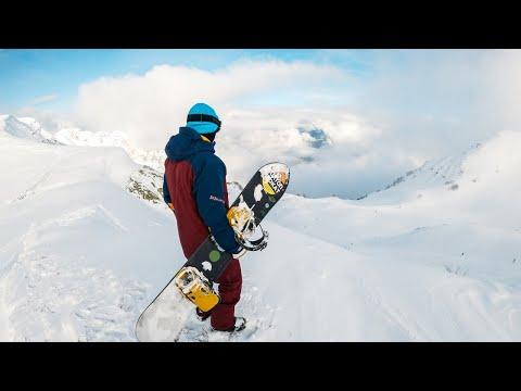 GoPro 8. Фрирайд на сноуборде. Роза Хутор. Борисов Алексей.