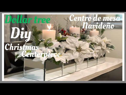 Centro de mesa navideño/Christmas centerpiece/decoración navideña 2018