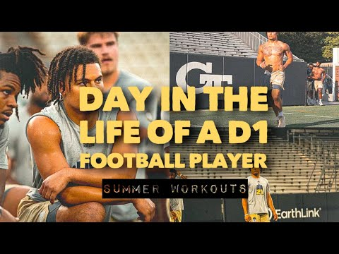 REAL Day In The Life of a D1 College Football Player: First Day of Summer