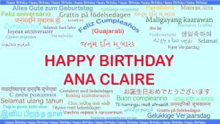 AnaClaire   Languages Idiomas - Happy Birthday