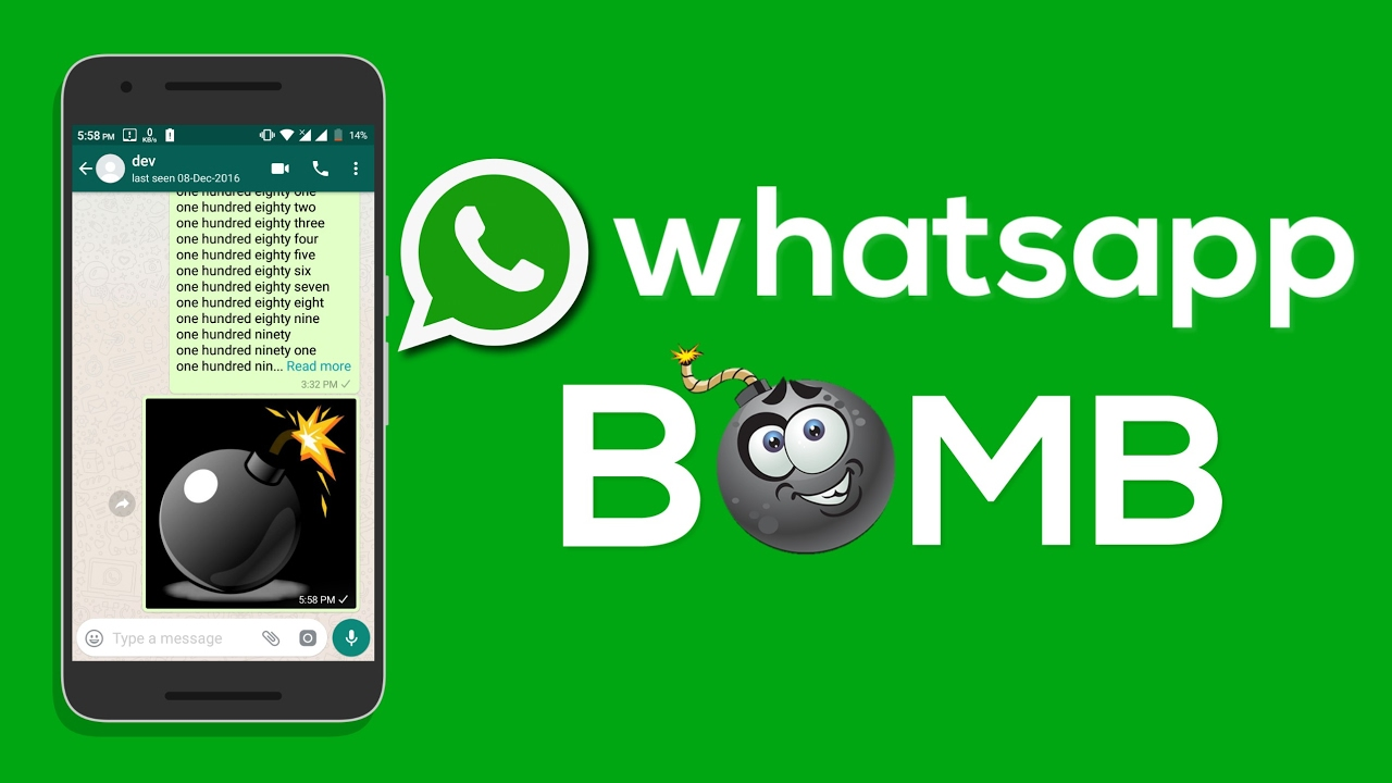 Image result for sending whatsapp bomber to friends