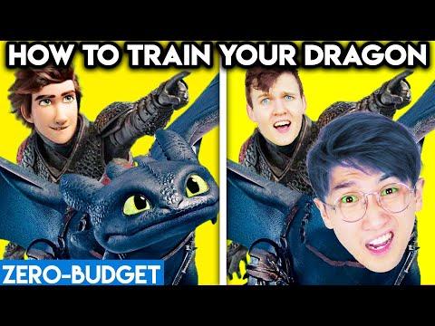 HOW TO TRAIN YOUR DRAGON WITH ZERO BUDGET! (FUNNY LANKYBOX MOVIE PARODY!)