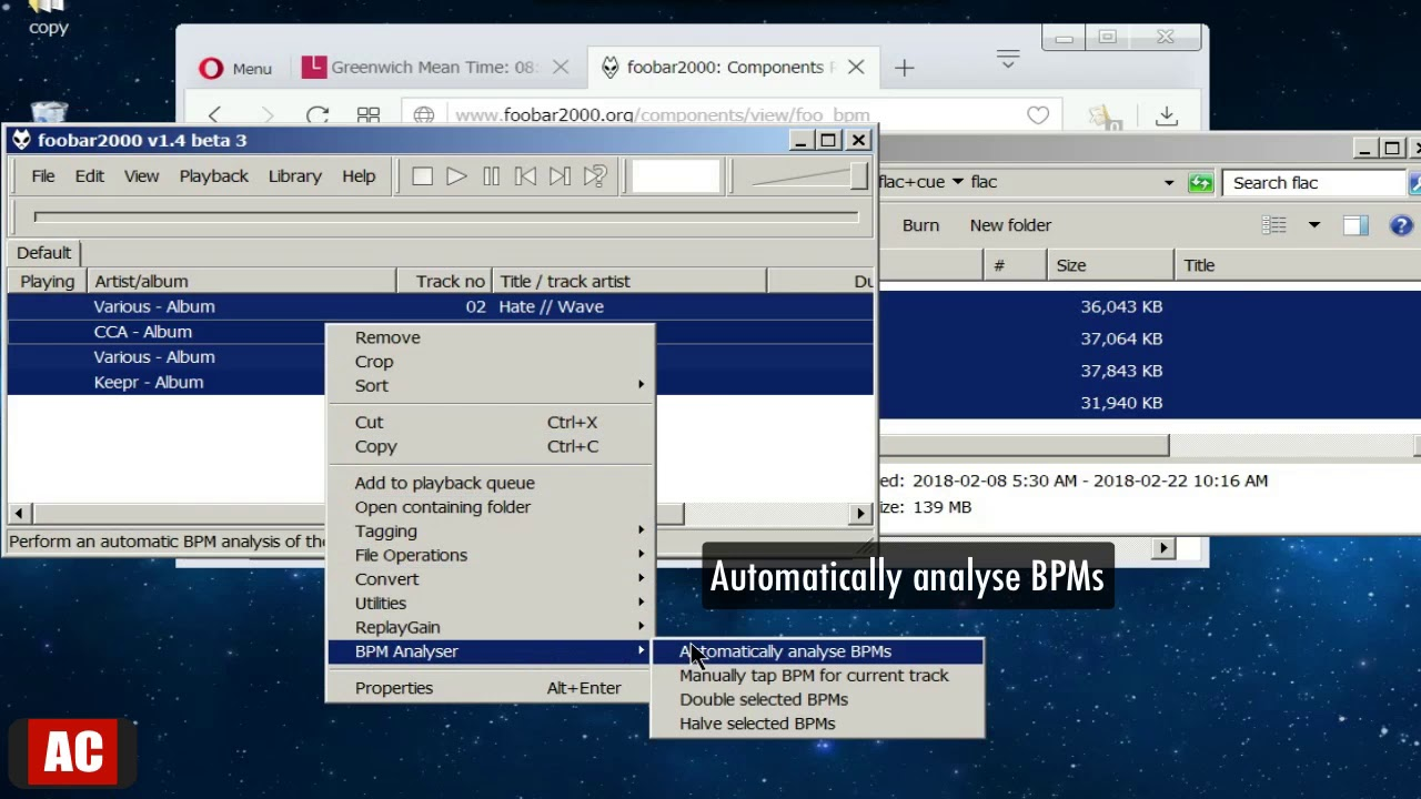 Detect BPM and Tag  FLAC Files on Windows-foobar2000