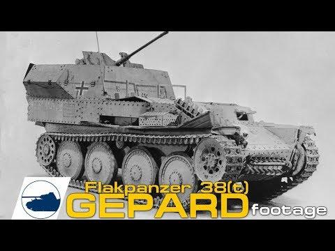 rare-ww2-flakpanzer-38(t)-gepard-auf-selbstfahrlafette-38(t)-ausf.m-footage