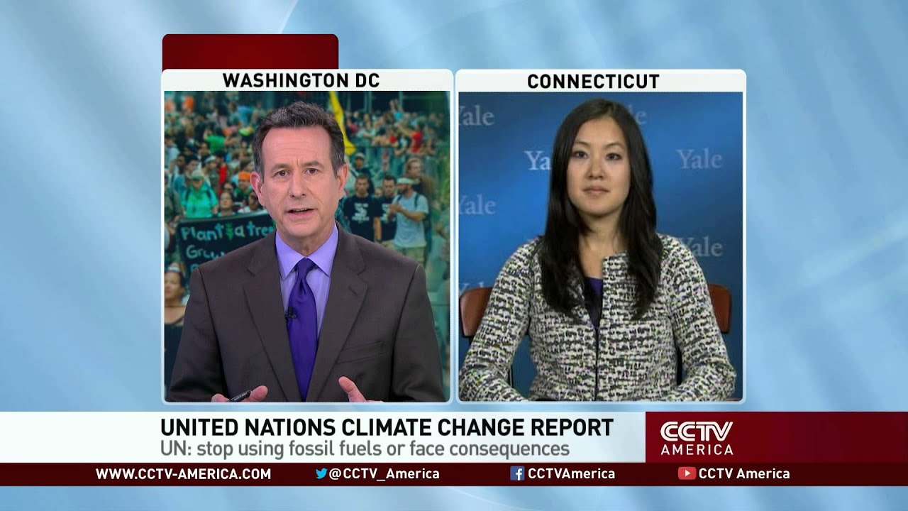 Angel Hsu at Yale University talked about UN's climate change report