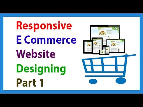 Responsive E Commerce Website Designing Without Bootstrap (2016)