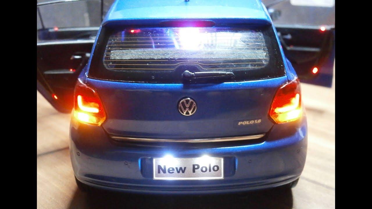 1 18 Led Tuning Car Vw Polo Modellbau Ddr 136 Youtube