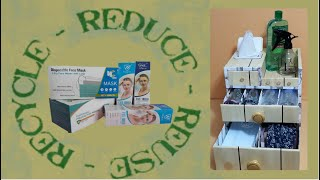 HOW TO RECYCLE FACE MASK AND FACE SHIELD BOXES AT HOME Simply khimi DIY