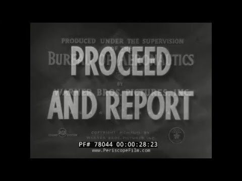 U.S. NAVY PROCEED AND REPORT NAVAL CUSTOMS 1943 TRAINING FILM  78044