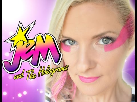 Jem the holograms 2015 makeup cosplay face paint costume jem the holograms 2015 makeup cosplay face paint costume tutorial ccuart Images