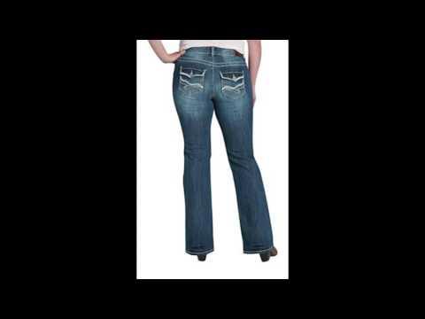Maurices Womens Denim Flex Plus Size Back Flap Pocket Bootcut Jeans 20 Short Dark Sandblast