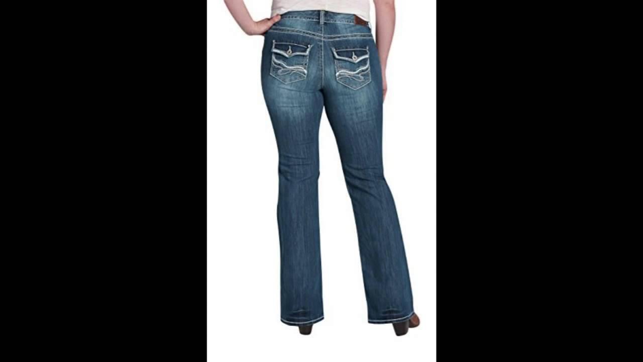 f334b866774 Maurices Womens Denim Flex Plus Size Back Flap Pocket Bootcut Jeans 20  Short Dark Sandblast
