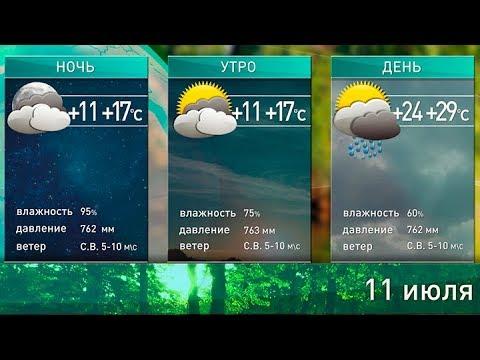 Прогноз погоды на 11 июля