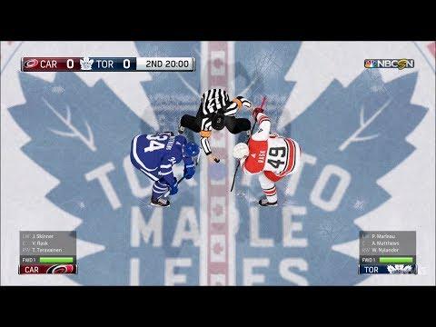 NHL 18 - Toronto Maple Leafs vs Carolina Hurricanes - Gameplay (HD) [1080p60FPS]