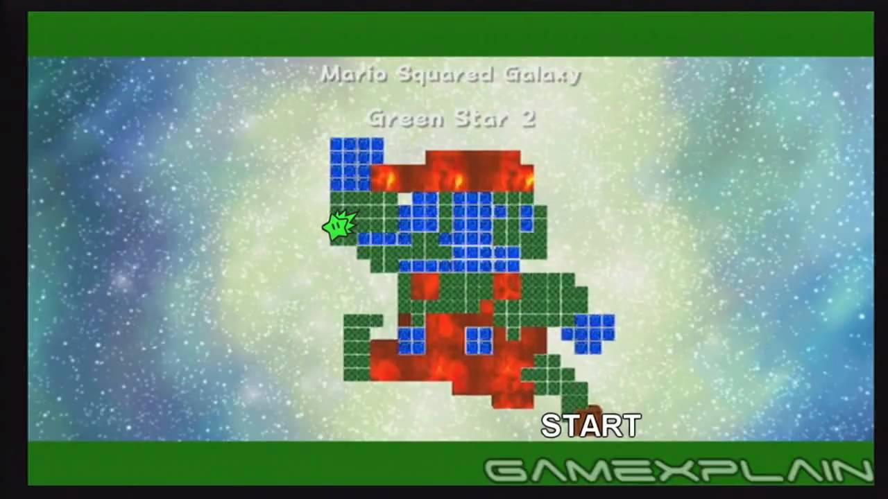 Super Mario Galaxy 2: Mario Squared Green Stars - YouTube