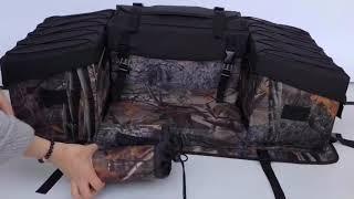 Multi compartment Atv Camouflage Cargo Padded bottom Rear Rack Pack Storage Bag   Buy Atv Rear Rack