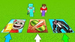 НУБ И ПРО ПРОТИВ СТРАШНЫЕ ЯМЫ В МАЙНКРАФТ ! Том бег за золотом , Веном и Fruit Ninja