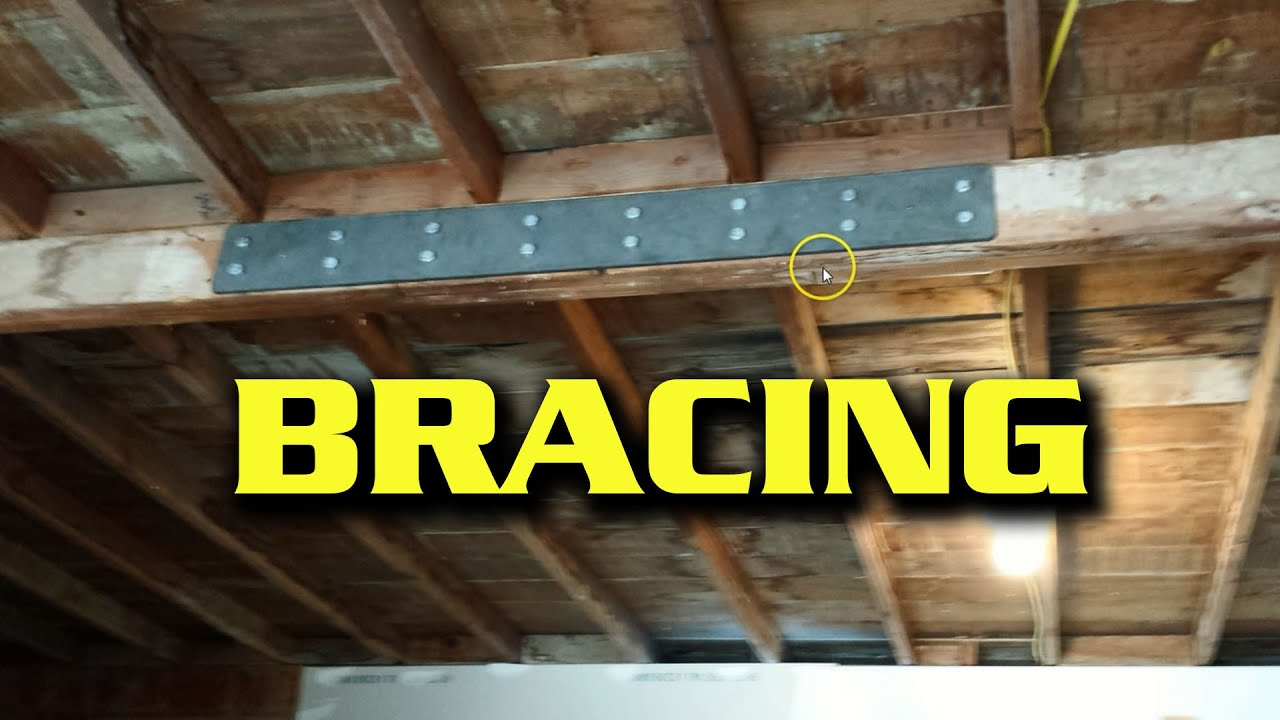 Quick Fix Bracing A Sagging Garage Beam Youtube