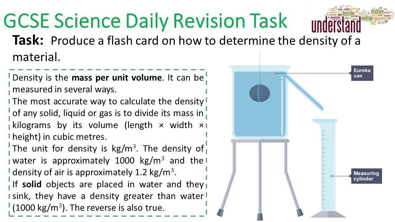 GCSE Science Daily Revision Task 84:  Density - YouTube
