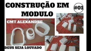 AEROMODELO - CONSTRUINDO COM MOLDES EM BLOCOS DE ISOPOR/2018