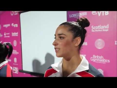 Aly Raisman Talks About Aliya Mustafina (Worlds 2015)