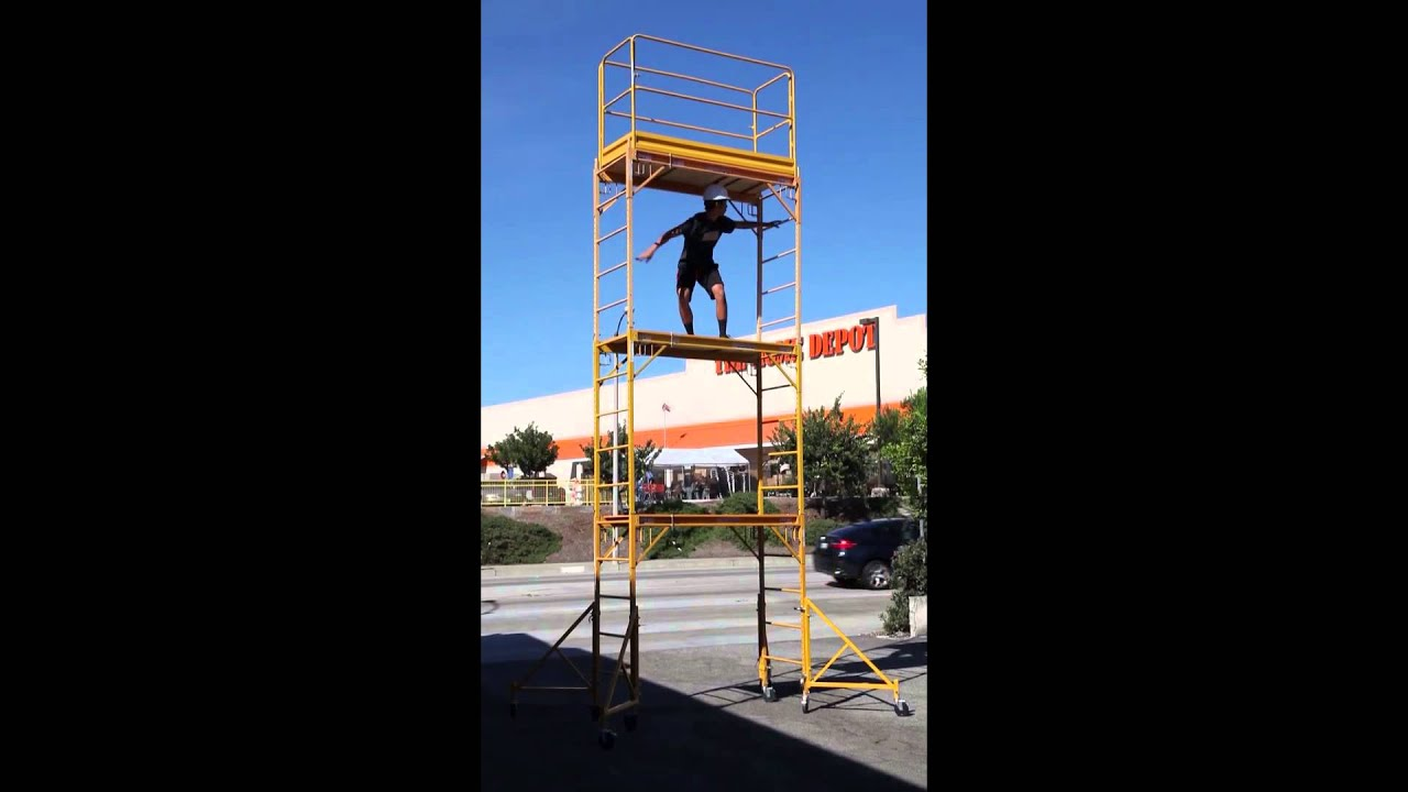 Scaffold Rolling Tower Standing 17 Youtube