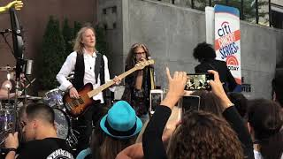 """Aerosmith """"Love In The Elevator"""" today show soundcheck 8/15/18"""