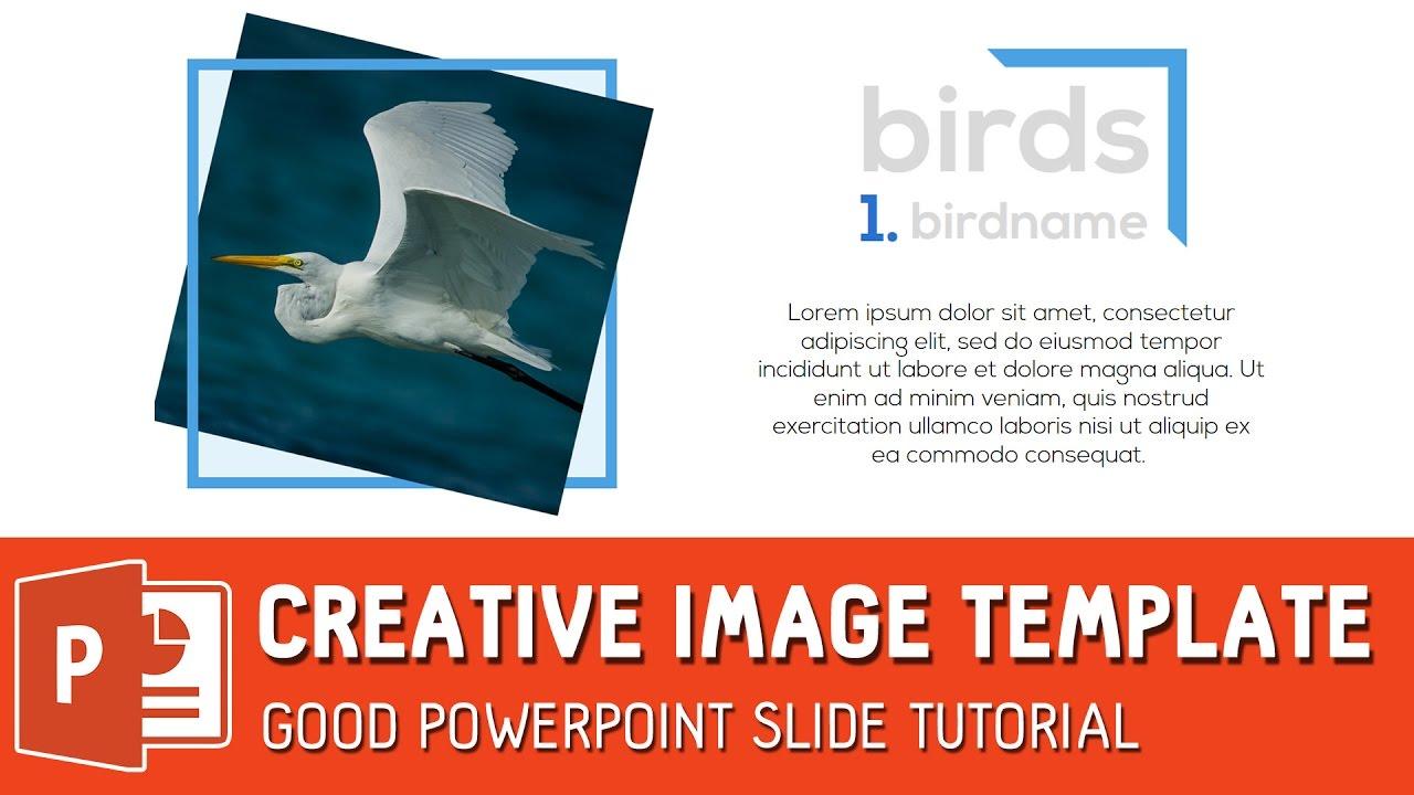 creative image template good powerpoint slide tutorial youtube