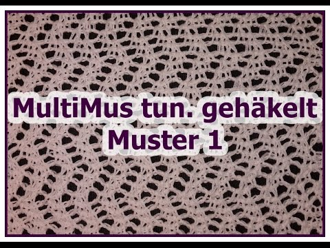 MultiMus tunesisch gehäkelt - Muster 1 - Veronika Hug - YouTube
