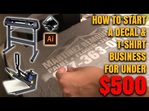 How To Start A Decal & Tshirt Business From Home