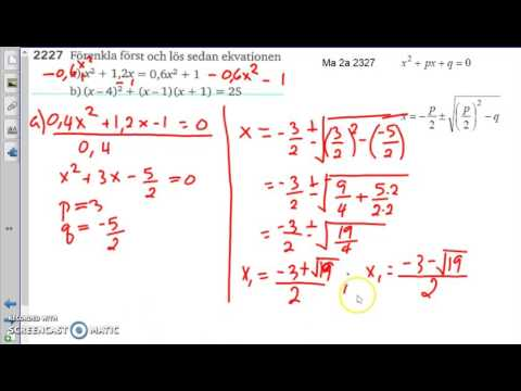 Matematik 5000 Ma 2b   Kapitel 2   En lösningsformel   2227