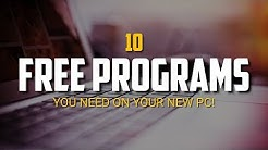 10 Free Programs You Need on Your New PC!