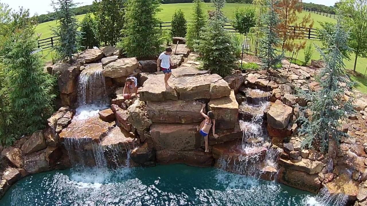 Aquascape Pools   Backyard Cliff Diving!   Super Rough Cut