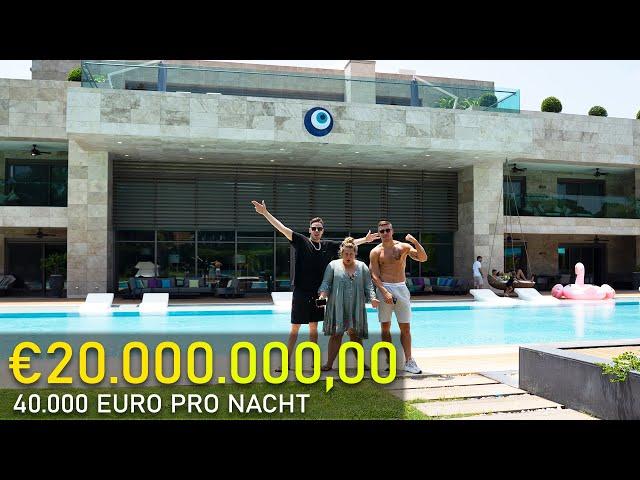 Roomtour im teuersten HOTEL Europas - 40.000€ PRO NACHT - Mit Lukas Podolski in der 20 Mio Villa! - rewinside