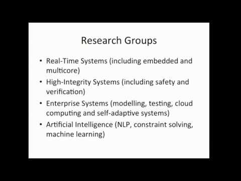 Studying for a PhD in Computer Science at the University of York
