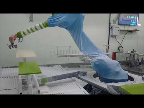 LESTA - Automatic panels painting with Kuka and scanning system
