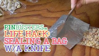 How To Seal A Plastic Bag With A Knife And Lighter // DOES IT WORK?