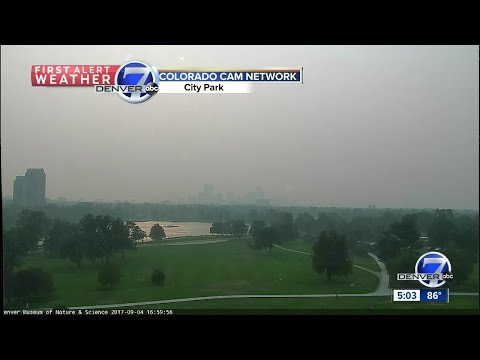 Haze in Colorado attributed to wildfires burning in California, Oregon, Montana