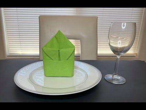 DIY: Paper Napkin Folding Idea