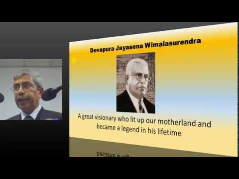Eng. D J Wimalasurendra Memorial Lecture - 2016