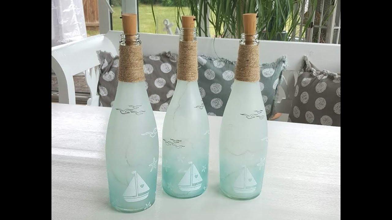 Flaschenlicht Diy Beleuchtete Flasche Mit Gonis Einfach Und